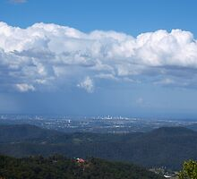 Gold Coast from Mt Tamborine  by Virginia McGowan