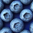 Blueberries on blue by rbbloemendaal
