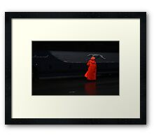 Signing in the Rain! Framed Print