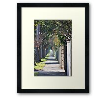 pathway to the burbs Framed Print