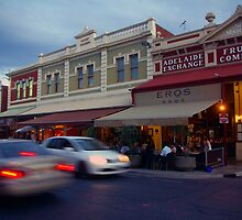 Rundle Street East at dusk by John Mitchell