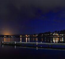 Warners Bay by Night - NSW Australia by Steve D