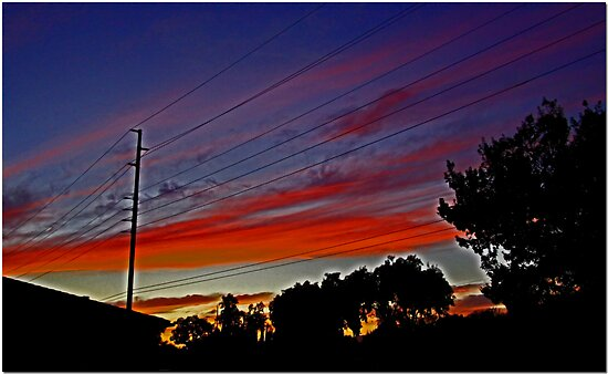 Sunset In Suburbia by Chet  King
