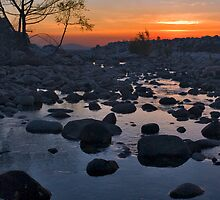 Santa Ana River Sunset by photosbyflood