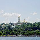 The Kiev lavra of the Caves on the beach. by Tutelarix