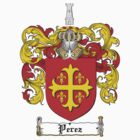 Perez Family Crest / Perez Coat of Arms T-Shirt by coatofarms
