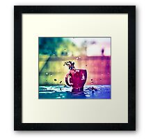Find what you need at the end of the rainbow Framed Print
