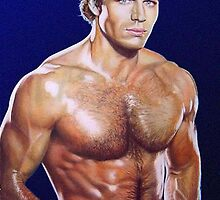 Jon Erik Hexum Color Pencil @ www.KeithMcDowellArtist.com by © Keith McDowell, Artist
