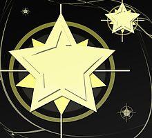 Golden Star At Night by regidesigns