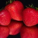 Strawberry Reflection by Trudy Wilkerson