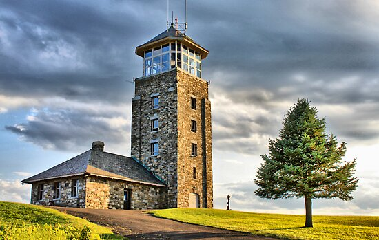 The Observation Tower at Quabbin Reservoir by Evelina Kremsdorf