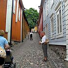 Steep hill of cobblestones by tanmari
