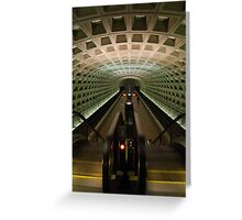 DC Metro Underground Greeting Card