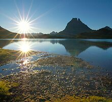 sunrise on pic du midi d'ossau by patrick pichard