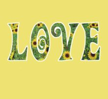 Sunflower Hippy Love Kids Clothes