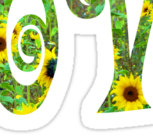 Sunflower Hippy Love Sticker