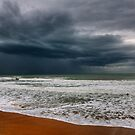 storm over the sea by patrick pichard