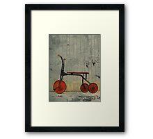 Little Red Trike Framed Print