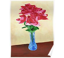 Vase of Red Flowers Poster