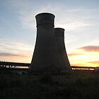 Tinsley cooling towers at sunset by sidfletcher