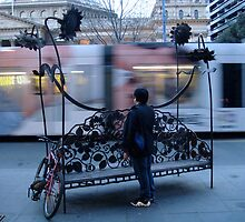 watching the tram pass by by Louisa Billeter