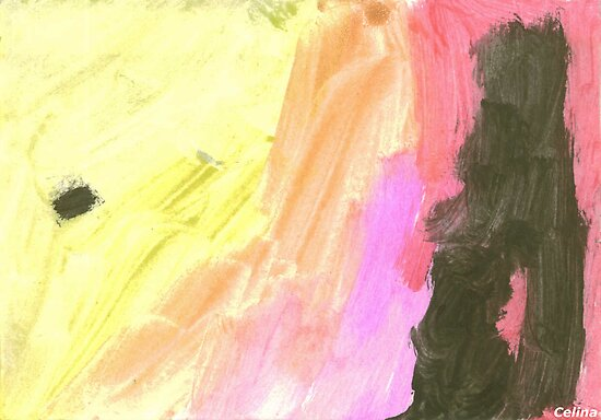 Without title (watercolour painted by Celina 3½ years old) by Tove
