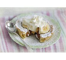Banana Caramel Pie Photographic Print