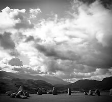 Sunlight over Castlerigg  by clickinhistory