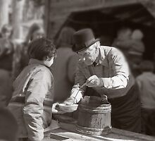 Uncle Harry Uhlman Sugaring by Wayne King