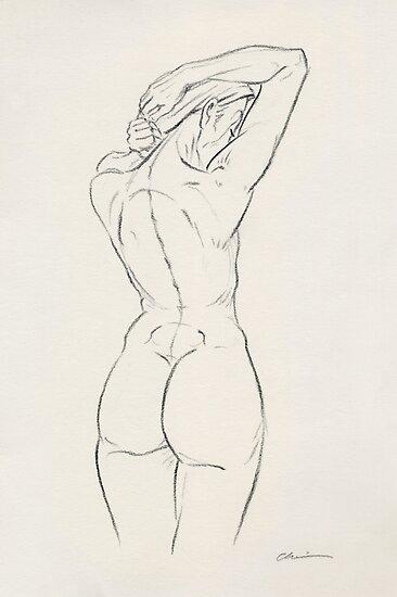 Girl Letting Down Hair by Chris Baker