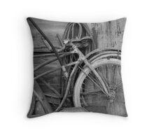 Vintage Bikes Throw Pillow