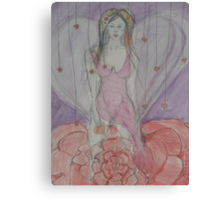 Goddess of Flowers & Hearts Canvas Print
