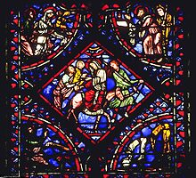 1984 Troyes Cathedral Window Flight into Egypt by Fred Mitchell