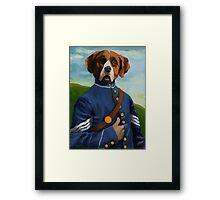 Reginald Biggs - civil war dog - oil painting Framed Print