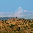 Moonrise over New Mexico by BarneyB