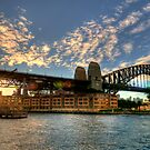 Winter Sunset at Sydney Harbour Bridge by baddoggy