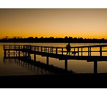 Walking the dog at the end of the day Photographic Print