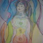 Chakra Goddess by Anthea  Slade