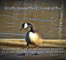 With Heartfelt Sympathy... by Greeting Cards by Tracy DeVore