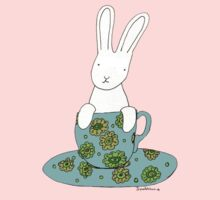 Bunny in a teacup Kids Clothes
