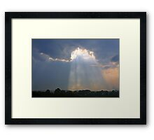 *SHINING THROUGH* Framed Print