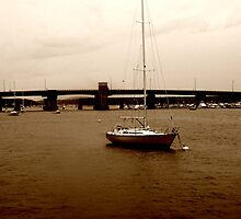 Sailboat in Merrimack by AntonLee