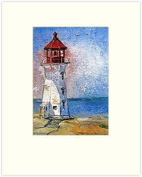 Peggy's Cove Lighthouse, Nova Scotia by bevmorgan