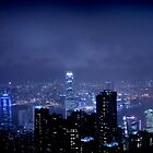 Hong Kong in Rain by Elaine Li