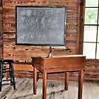 A Old Teachers School Desk by Jeff Ore