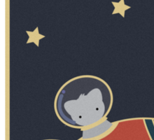 The Cat From Outer Space Sticker