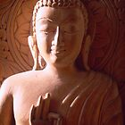 Wooden Carving of Buddha - 9 by Caroline Webb