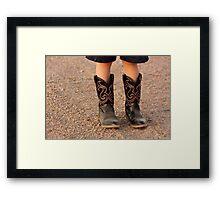 Child's Boots Framed Print