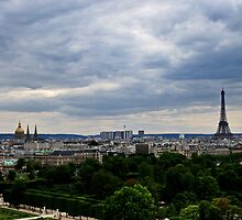 Paris and The Eiffel Tower 1 by MaluC