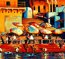 Golden Ganges by Sandra Hansen
